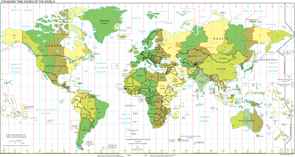 map of time zones in canada. Time Zone Maps
